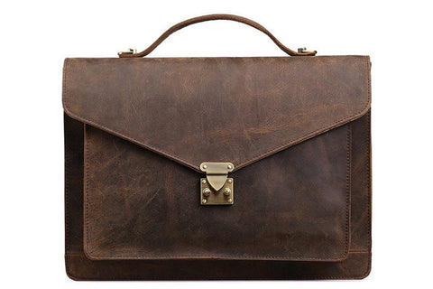 Leather Laptop Bag, Ref: Mala SR-205