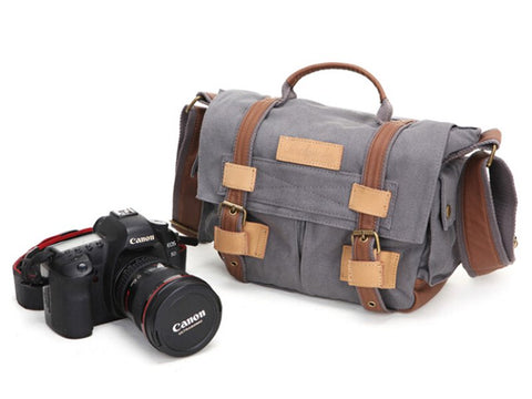 Canvas Messenger / Camera Bag, Ref: Mala SR-063