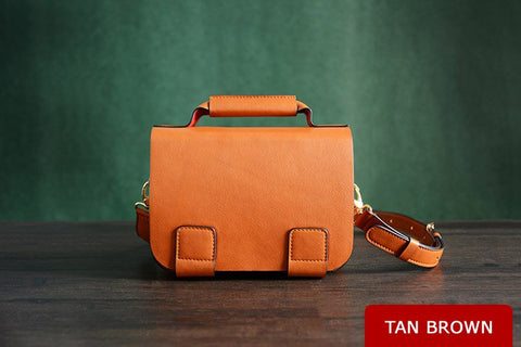 Custom Made, Italian Leather Satchel, Ref: Mala SR-082