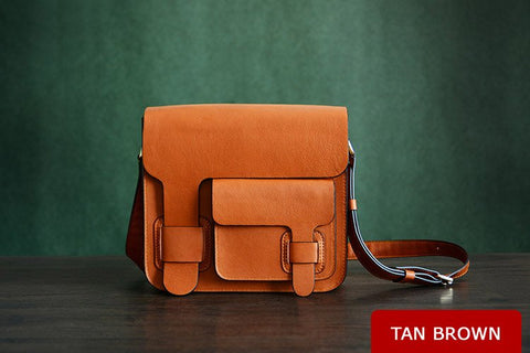 Custom Crafted Men's Leather Satchel Bag Ref: Mala SR-080