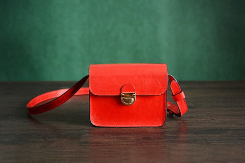 Ladie's Handmade Leather Satchel, Bag Ref: Mala SR-167