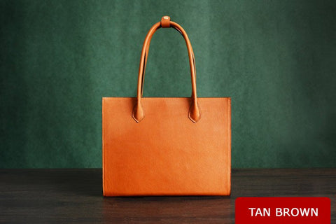Italian Leather Tote Bag, Ref: Mala SR-249