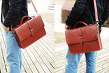 Handmade Leather Briefcase, Ref: Mala   SR-132
