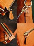 Handmade Men's Italian Leather Satchel Vegetable Vanned Bag, Ref: Mala  SR-138