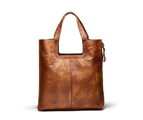 Full Grain Leather Handbag, Ref: Mala SR-108