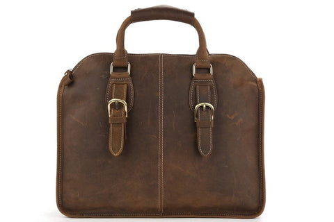 Antique Leather Laptop Bag, Ref: Mala  SR-027