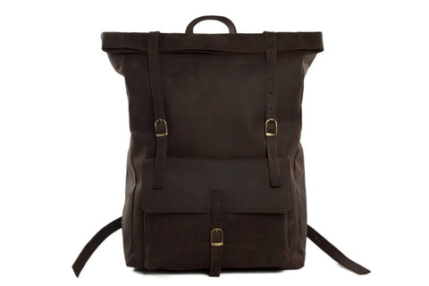 Leather Backpack, Ref: Mala  SR-188