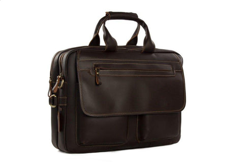 15'' Handmade Leather Briefcase, Ref: Mala  SR-017