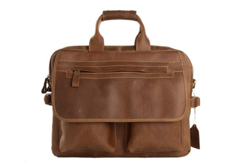 Gent's Leather Laptop Bag, Ref: Mala  SR-110