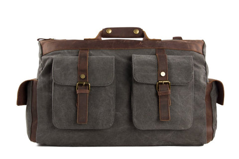 15'' Canvas Leather Travel Bag, Duffel Bag Ref: Mala  SR-015