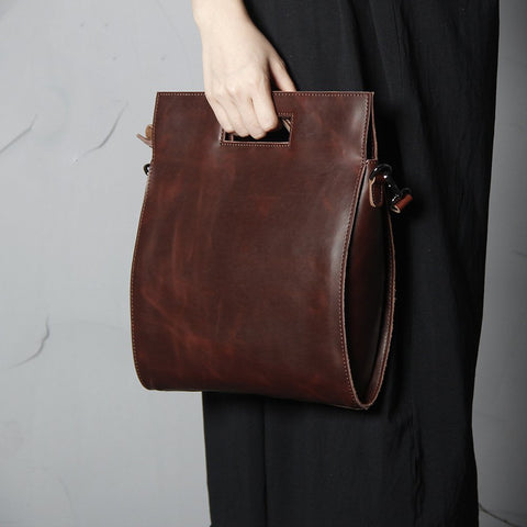 Handmade Full Grain Ladies Shoulder Satchel, Ref: Mala  SR-126