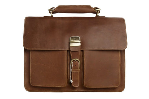 Handmade Gents Leather Briefcase Full Grain, Re: Mala  SR-128