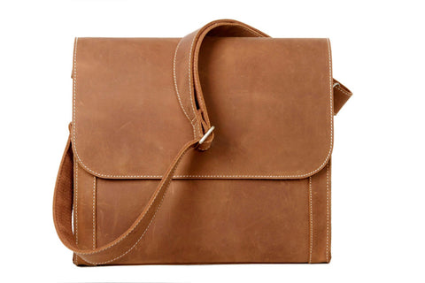 Handcrafted Leather Crossbody Bag, Ref: Mala  SR-118