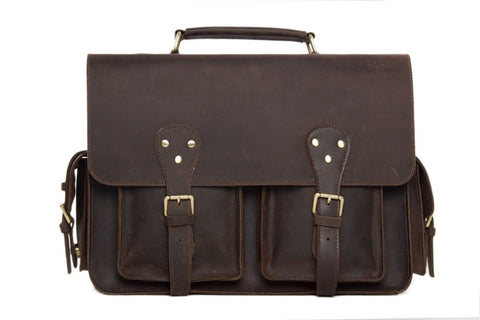 Men's Rustic Leather Briefcase. Ref: Mala  SR-233