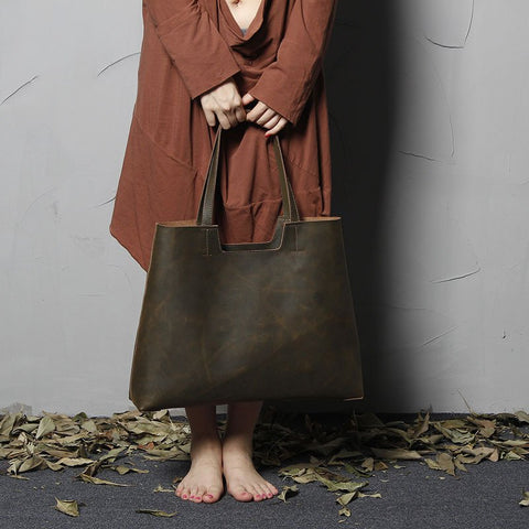 Top Grain Leather Shopping bag, Ref: Mala SR-254