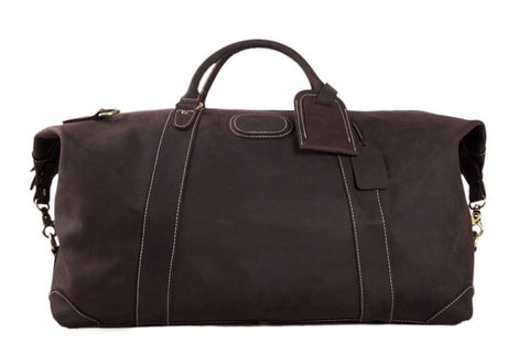 Handmade Leather Travel Bag, Ref: Mala SR-137
