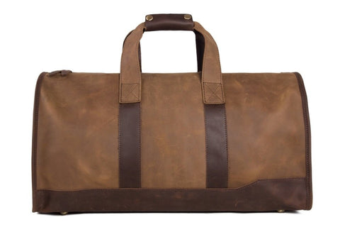 Leather Travel Bag Top Grain Leather, Ref: Mala SR-217