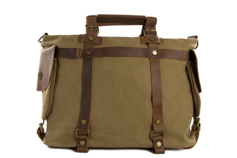 "15"" Canvas Leather Bag, / Briefcase, Laptop Bag Ref: Mala SR-013"