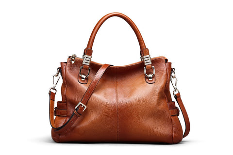 Ladie's Full Grain Leather Shoulder Bag, Ref Mala SR-166