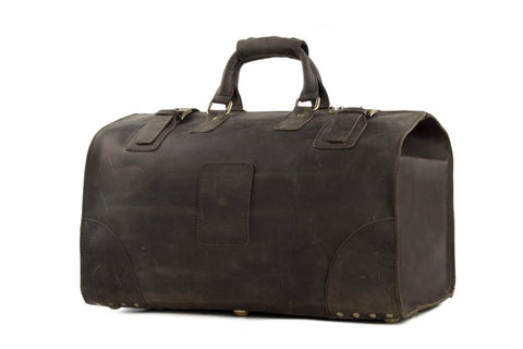 Vintage leather Duffle bag, Ref; Mala  SR-262