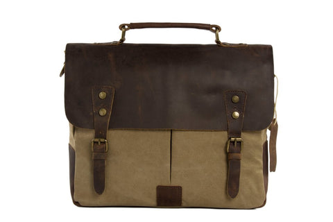 14'' Canvas Leather / Laptop Bag Ref: Mala SR-003