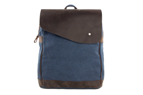 Canvas / Leather Backpack, Ref: Mala SR-039