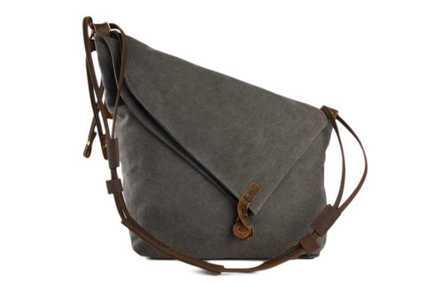 Waxed Canvas Satchel, Ref: Mala SR-277