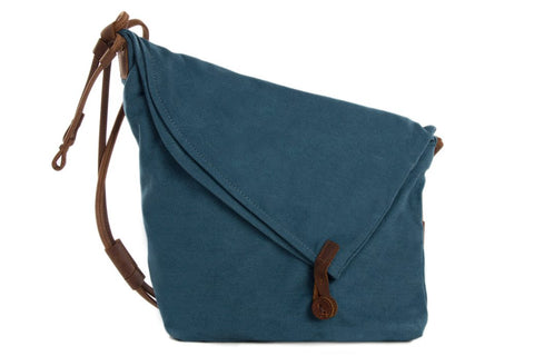 Canvas Leather Satchel, Ref: Mala SR-061