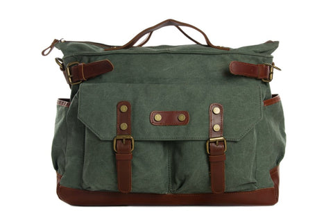 Canvas / Leather Briefcase, Ref: Mala  SR-040