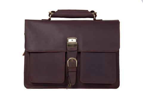 Handmade Vintage Leather Briefcase, Ref: Mala SR-142