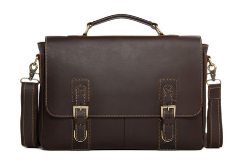 Beautiful Leather Briefcase, Ref: Mala SR-029