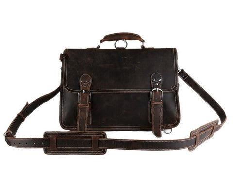 Laptop Bag in Leather, Ref: Mala SR-177