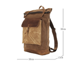 Men's Waxed Canvas Rucksack, Ref: Mala   SR-237