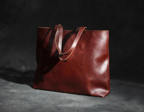 Leather Tote Bag, Ref: Mala SR-214