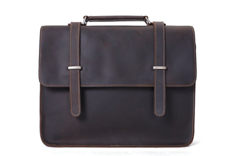 Leather Briefcase / Laptop Bag,Ref: Mala SR-191