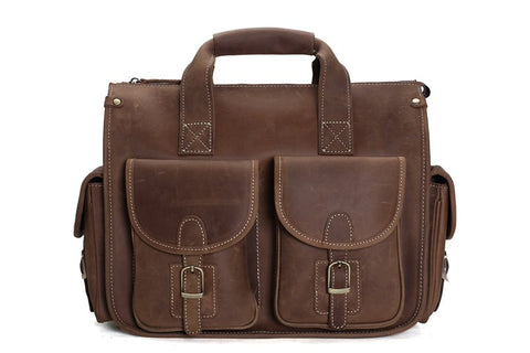 Vintage Leather Briefcase, Ref: Mala SR-260