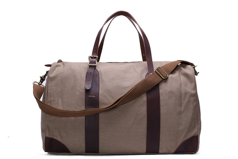 Waxed Canvas Holdall, Ref: Mala  SR-275