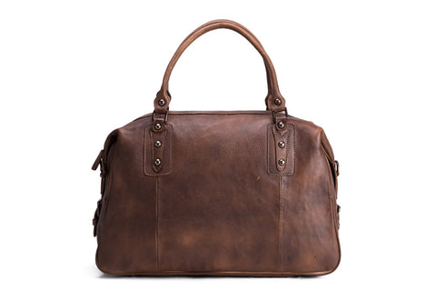 Leather Travel Bag, Ref: Mala SR-218