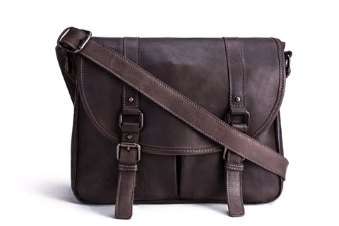 Men's Leather Satchel, Ref: Mala SR-231
