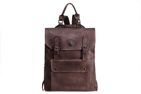 Full Grain Leather Backpack, Ref: Mala SR-105