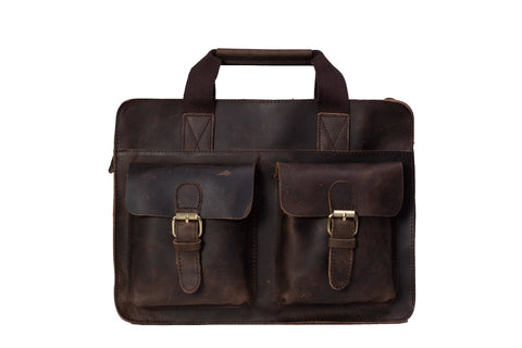 Men's Vintage Leather Briefcase, Ref: Mala  SR-236