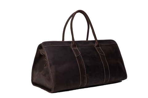 22'' Handmade Leather Travel Bag, Ref: Mala SR-023