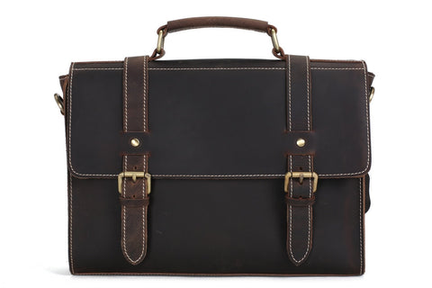 Leather Messenger Bag, Ref: Mala SR-207