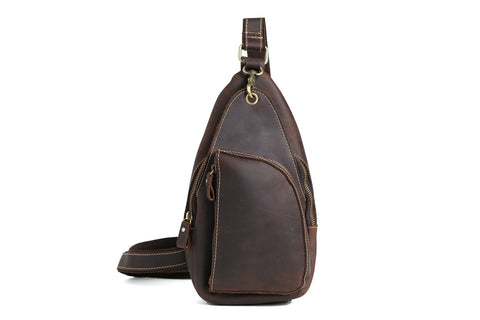 Men's Leather Chest Bag, Ref: Mala SR-228