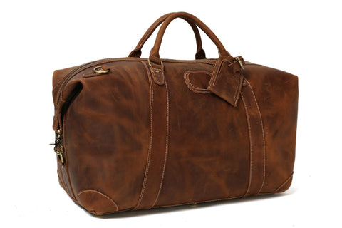 Handcrafted Leather Travel Bag, Ref: Mala SR-120