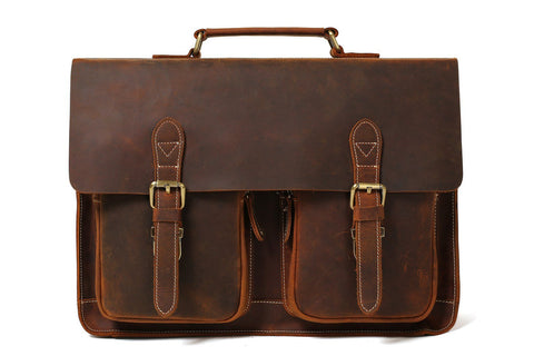 Solicitor's Briefcase in Full Grain Leather, Ref: Mala  SR-250
