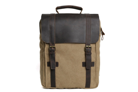 Leather / Canvas Backpack, Ref: Mala SR-183