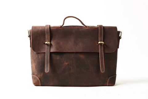 Leather Briefcase, Ref: Mala SR-194