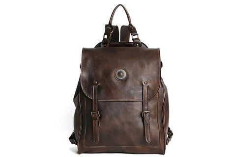 Full Grain Travel Leather Backpack, Ref: Mala SR-109
