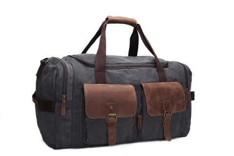 Canvas/ Leather, Overnight Duffle Bag, Weekend Bag Ref:  Mala SR-078
